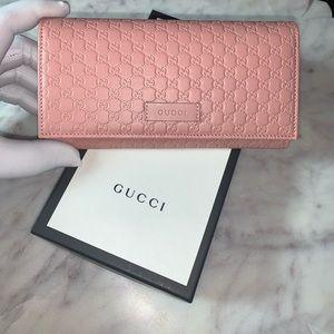 Gucci Soft Microguccissima Continental Flap Wallet